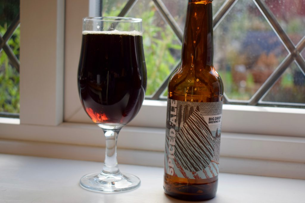 Big Drop Spiced Ale bottle and glass