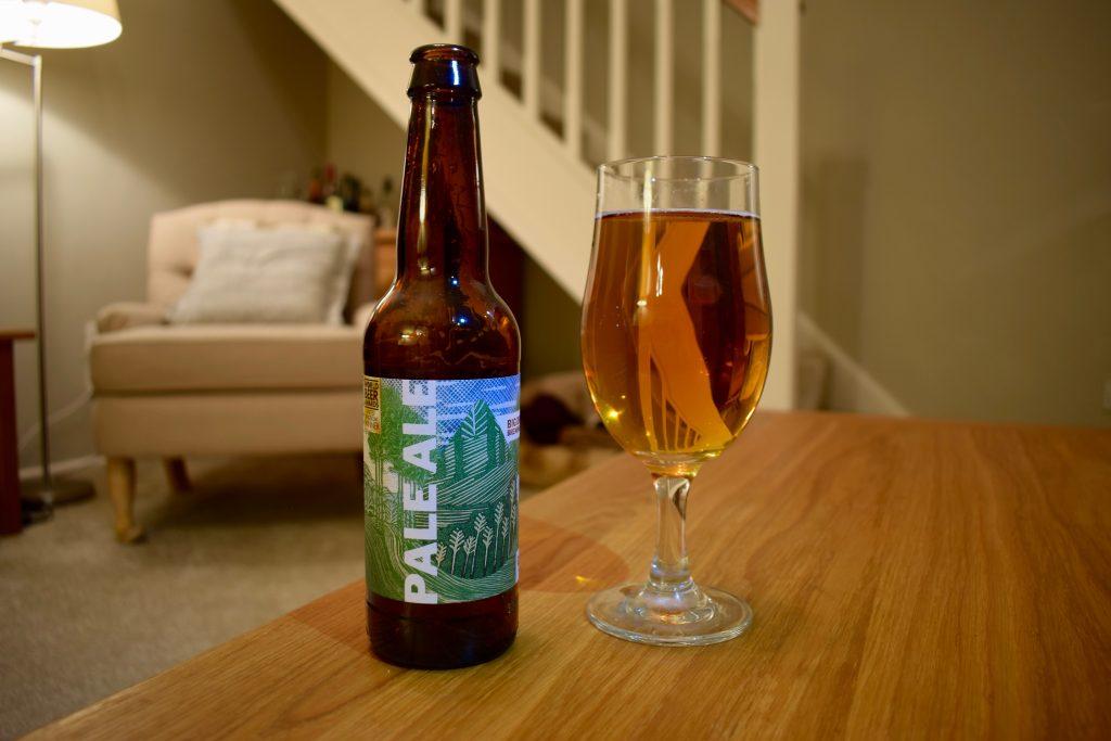 Big Drop low-alcohol Pale Ale bottle and glass