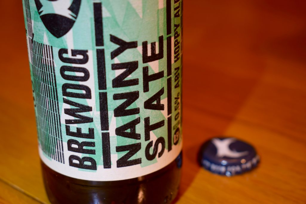Brewdog Nanny State label close up