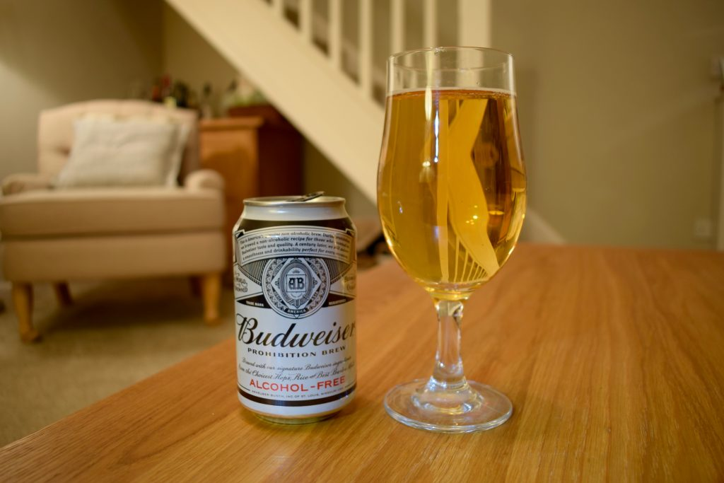 Can of Budweiser non-alcoholic Prohibition beer