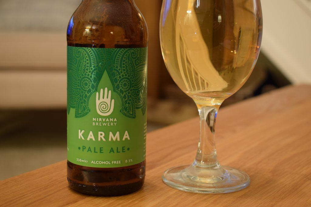 Nirvana Karma bottle label