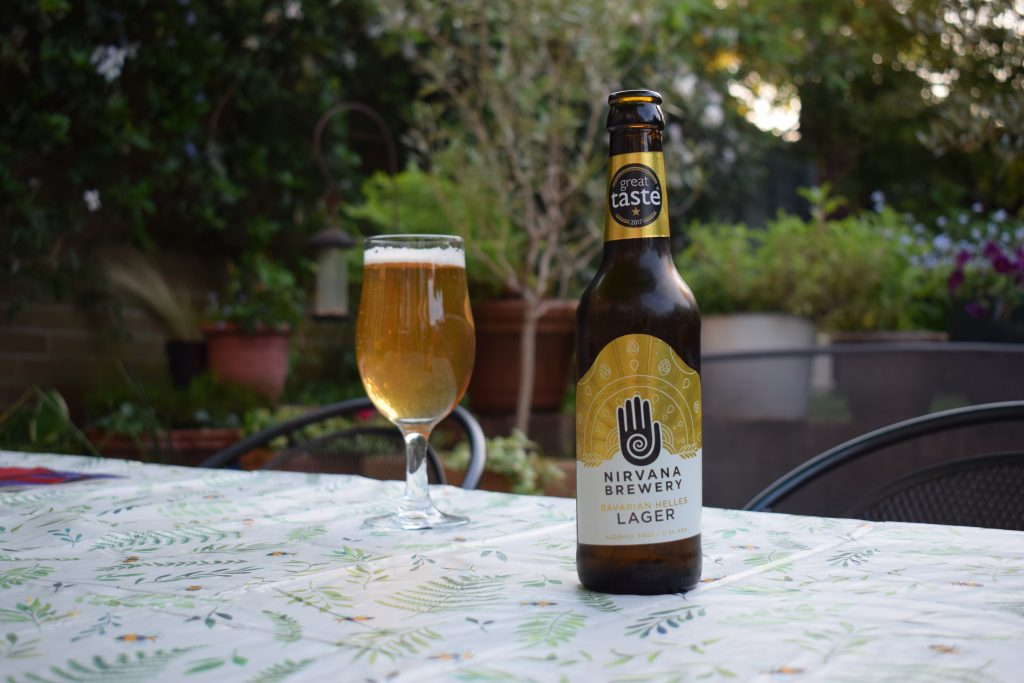 Nirvana Brewery Lager bottle and glass