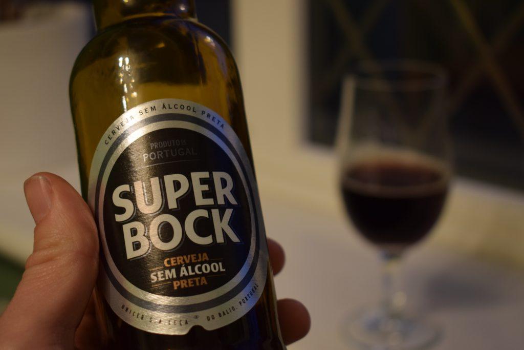 Super Bock Preta non-alcoholic stout label