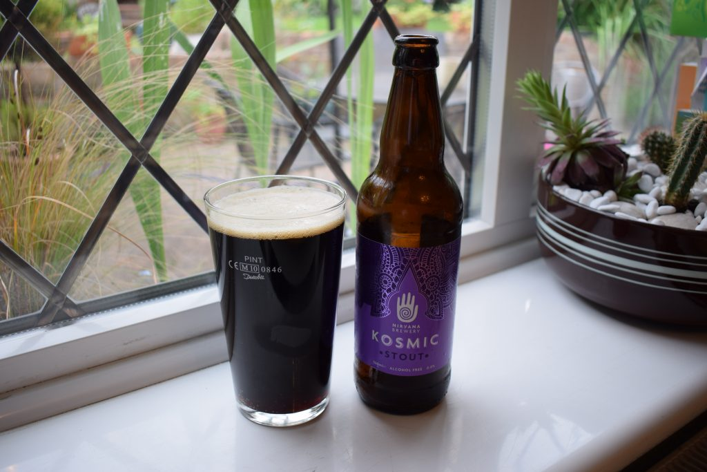 Nirvana Brewery Kosmic Stout bottle poured