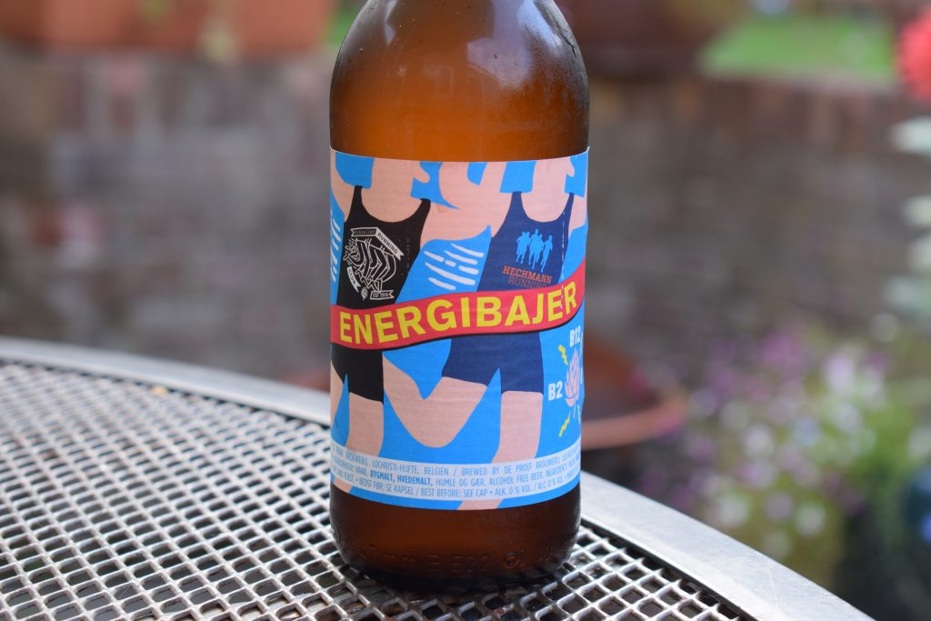 Energibajer alcohol-free beer bottle label