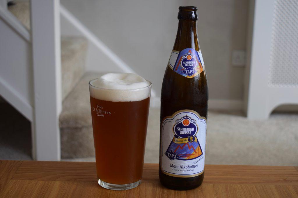 """Schneider Weisse """"Alkoholfrei"""" poured with big head"""