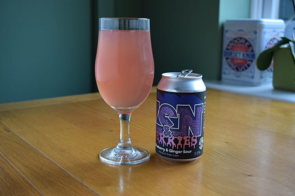 Zen and Berries alcohol-free beer by Nirvana and London Fields can and glass