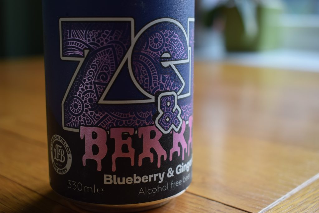 Zen and Berries alcohol-free beer by Nirvana and London Fields can close up