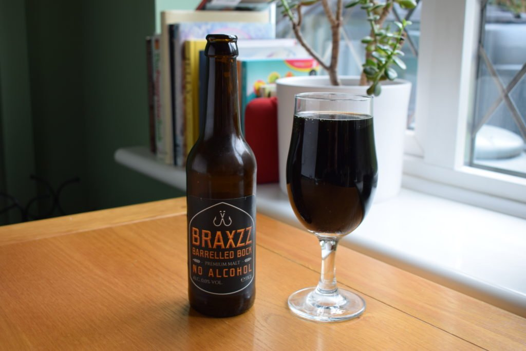 Alcohol-free Bock by Braxzz - bottle and glass