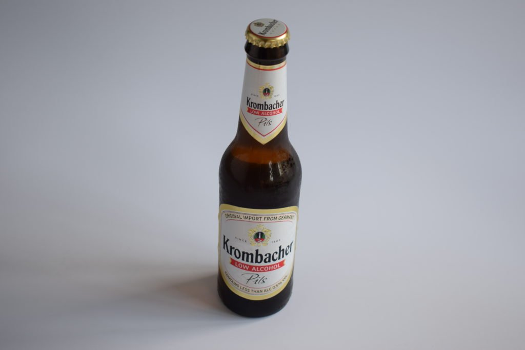 Krombacher alcohol-free beer bottle