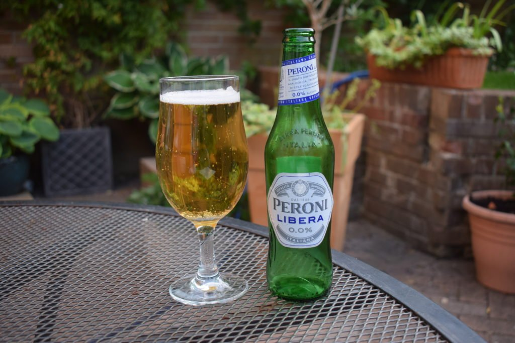 Bottle of Peroni Libera non-alcoholic lager