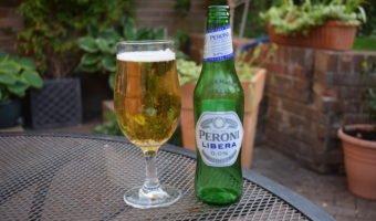 Bottle of Peroni Libera non-alcoholic lager