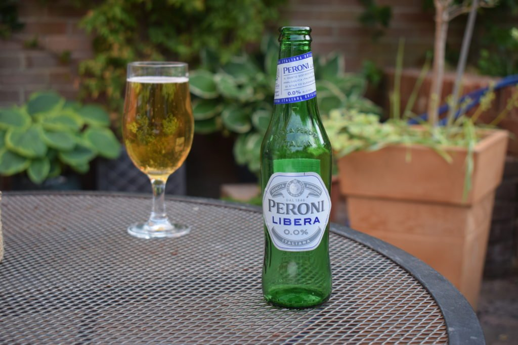 Bottle of Peroni Libera non-alcoholic lager bottle