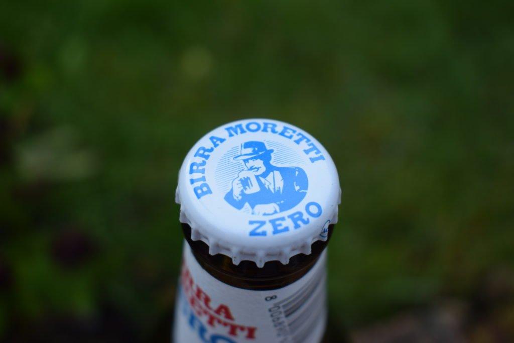 Birra Moretti Zero bottle cap