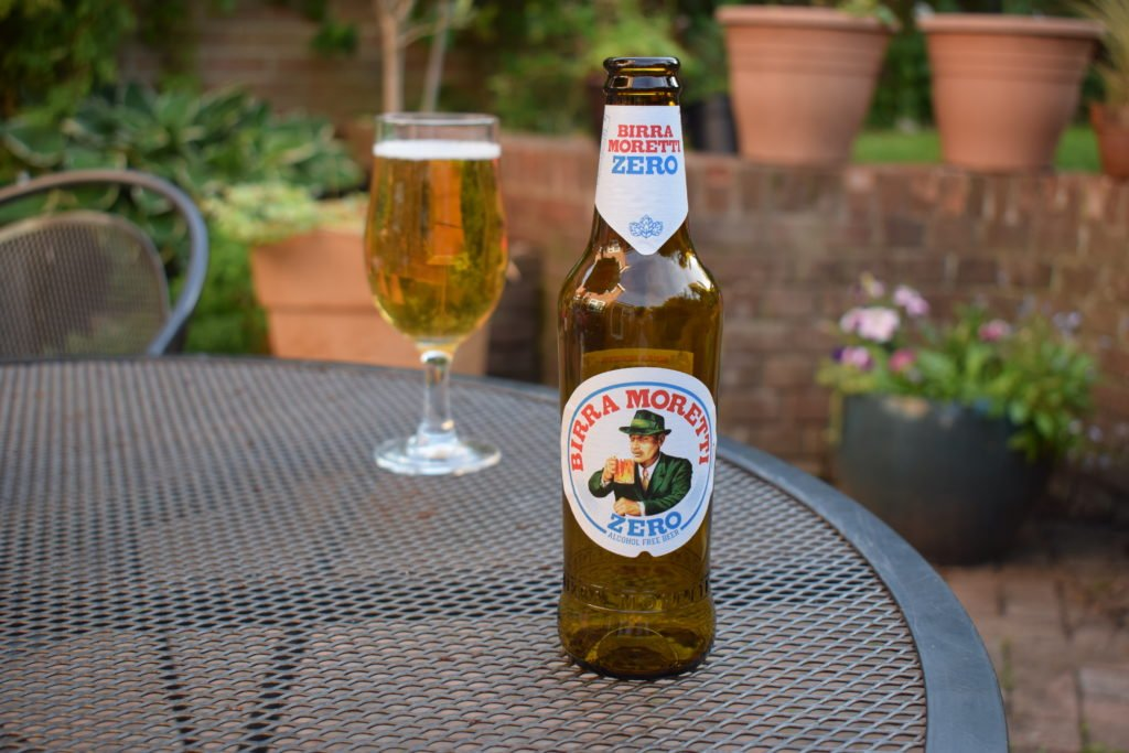 Birra Moretti Zero bottle and glass