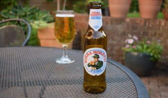 Birra Moretti Zero bottle and glass