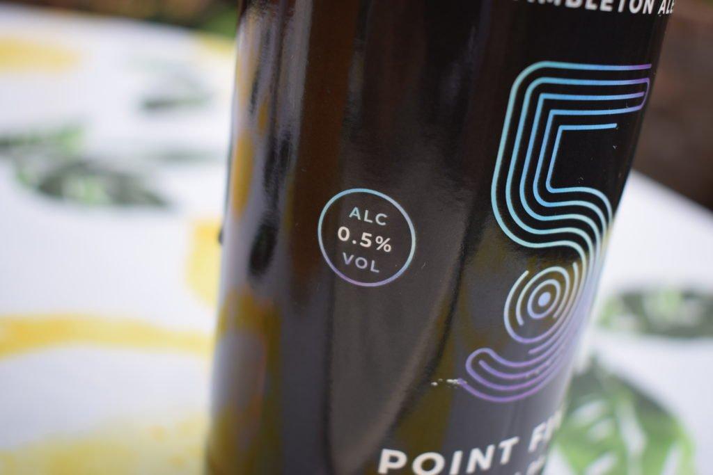 0.5% ABV alcohol label