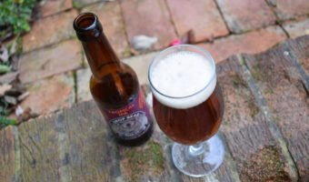 Drop Bear Beer Co 'Tropical IPA' review - low-alcohol (0.5%) India pale ale bottle and glass from above
