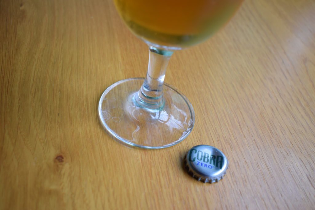 Cobra Zero non-alcoholic lager bottle cap