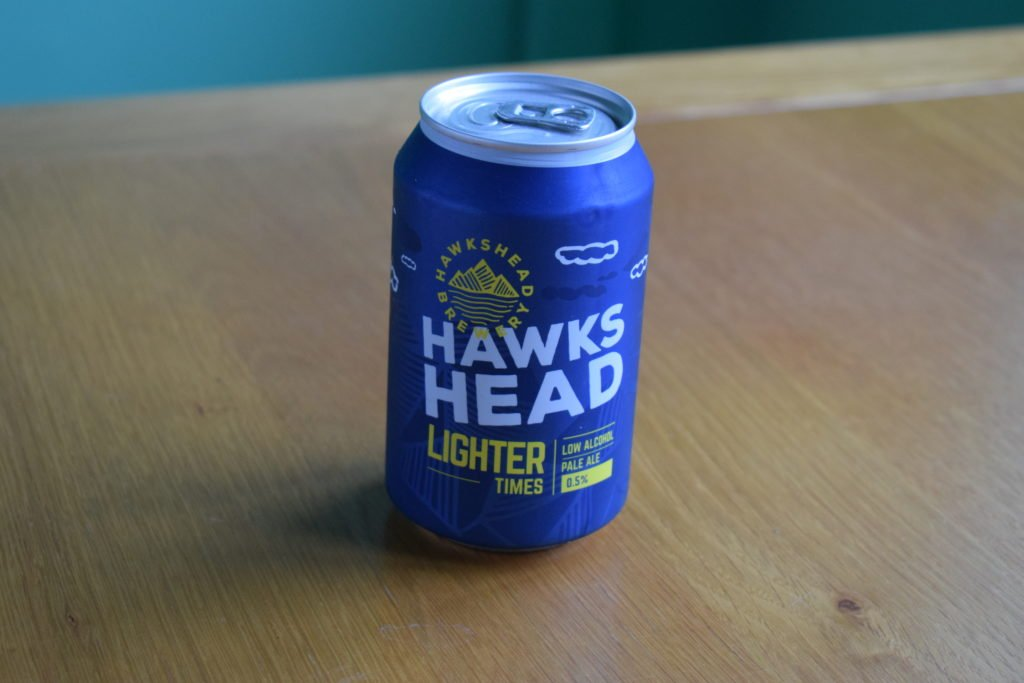 Can of Hawkshead Light Times non-alcoholic pale ale