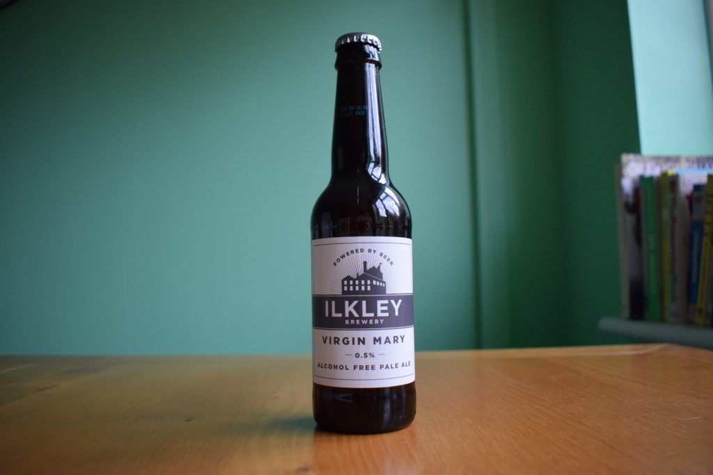 Bottle of Ilkley Brewery 'Virgin Mary' non-alcoholic beer
