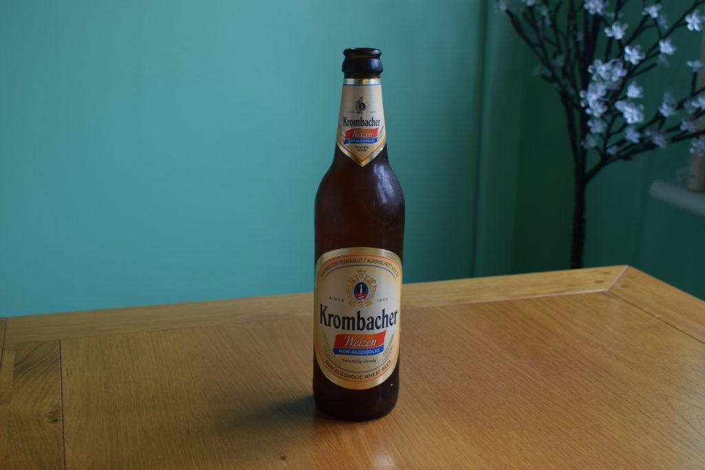 Krombacher Weizen Non-Alcoholic wheat beer bottle