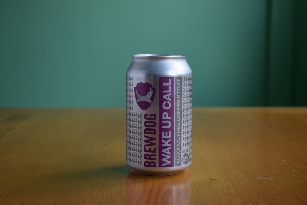 Can of Brewdog Wake Up Call Alcohol-Free Stout