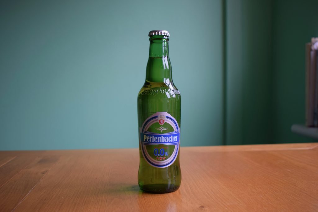 Lidl Perlenbacher 0.0 non-alcoholic beer bottle