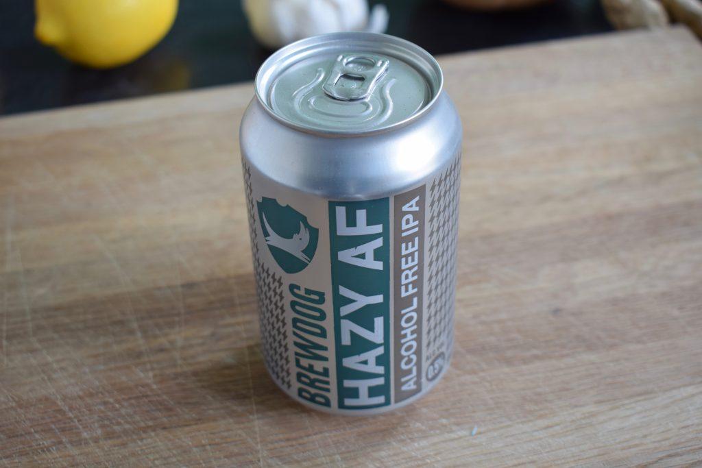 Can of Hazy AF beer by Brewdog