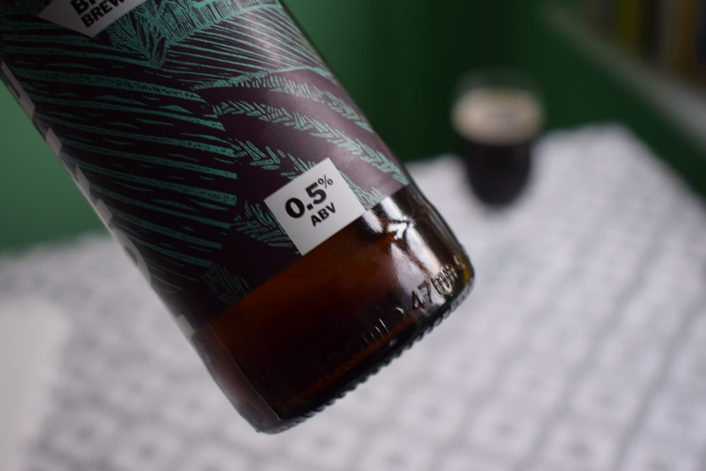 Close up of Bottle of Big Drop Hazelnut Porter