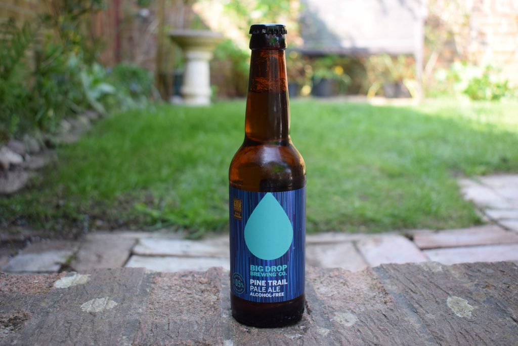 Big Drop Pine Trail pale ale non-alcoholic beer bottle