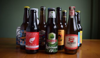 Selection of bottled non-alcoholic beers