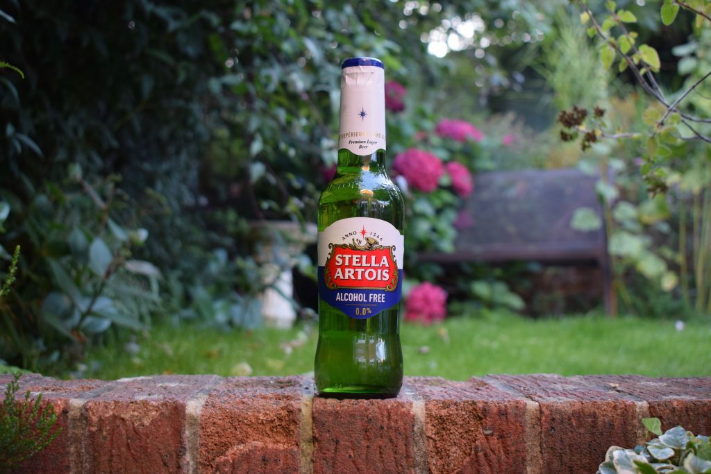 Bottle of Stella Artois Alcohol-Free lager