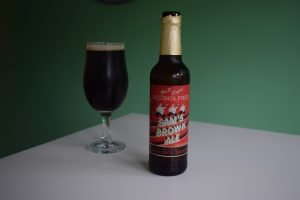 Samuel Smith's Sam's Brown Ale Alcohol Free bottle and glass