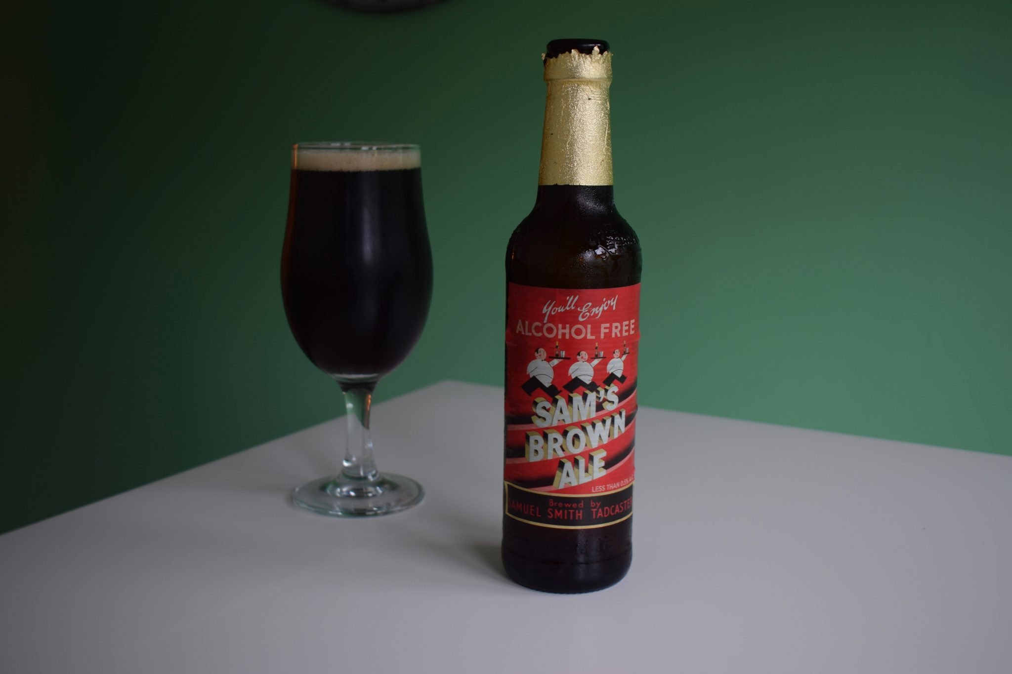 """Sam's Brown Ale"" (0.5%) by Samuel Smith"