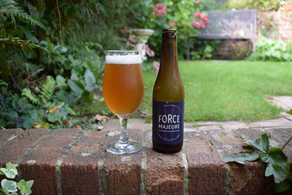 Force Majeure Alcohol Free Blonde bottle and glass