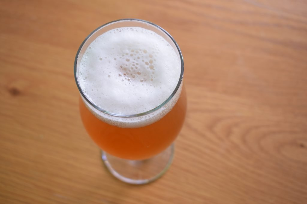 Insel Snorkeller's Sea Salt IPA from above in glass