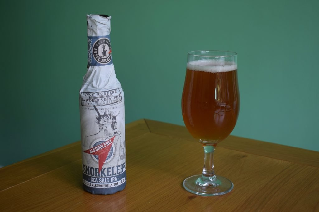 Insel Snorkeller's Sea Salt IPA glass and bottle