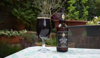 Thornbridge Little by Little non-alcoholic beer bottle and glass