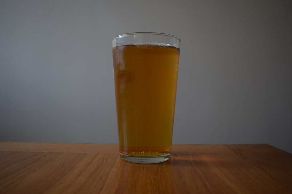 Aldi Sainte Etienne Alcohol Free beer in a glass