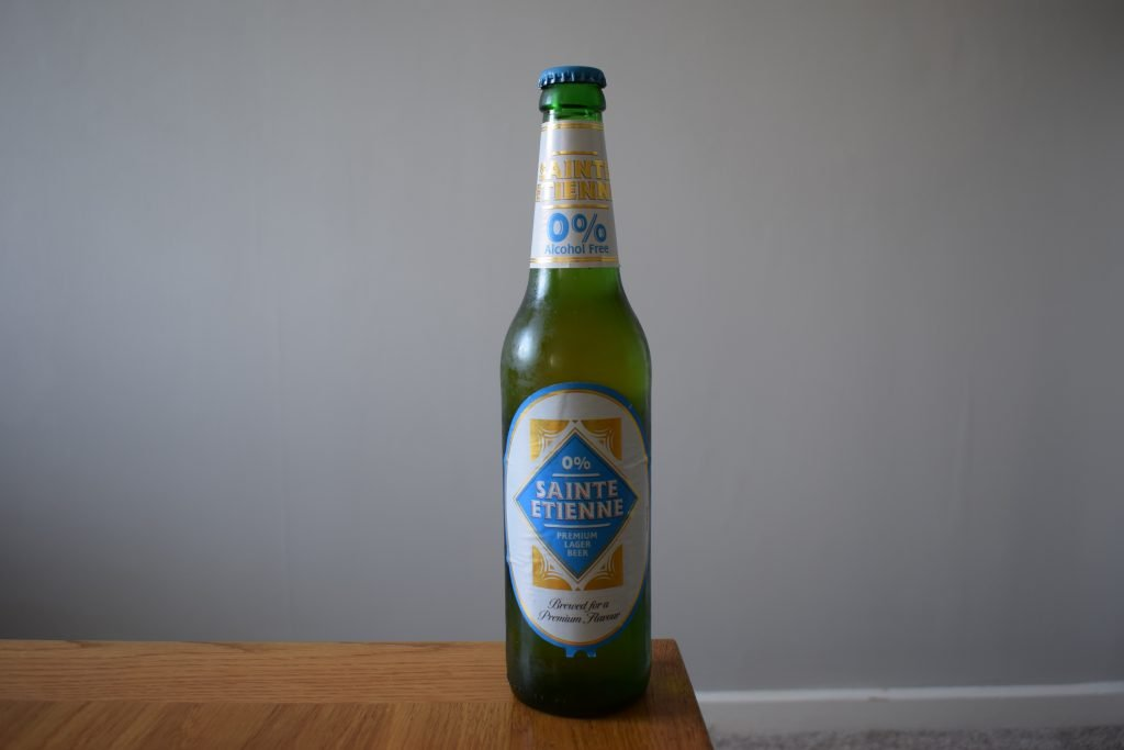 Aldi Sainte Etienne Alcohol Free beer in a bottle