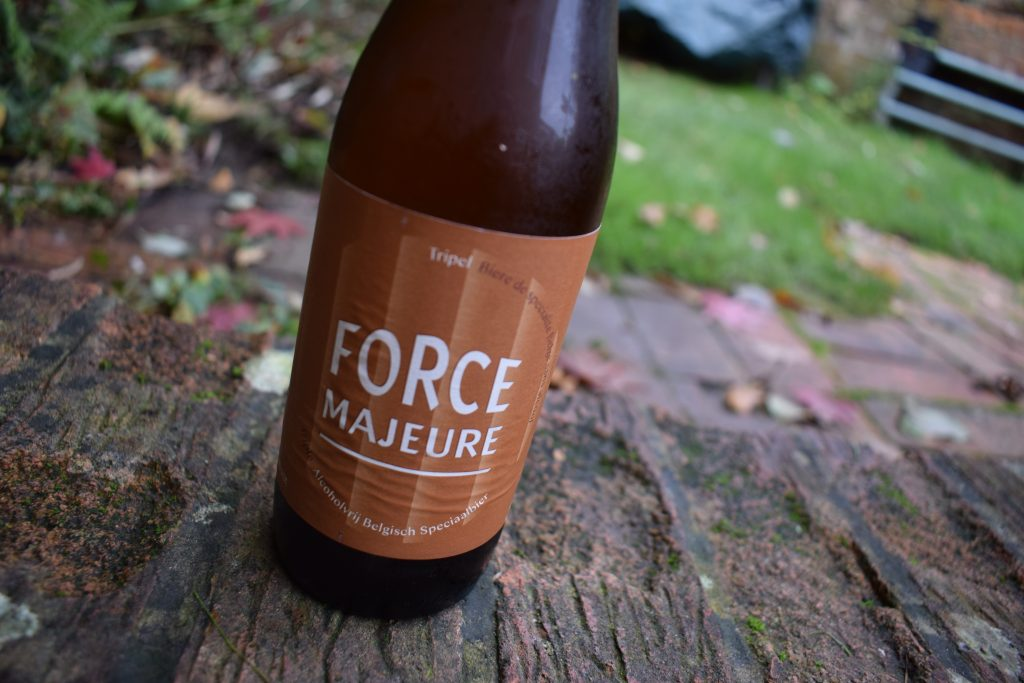 Force Majeure Tripel bottle label