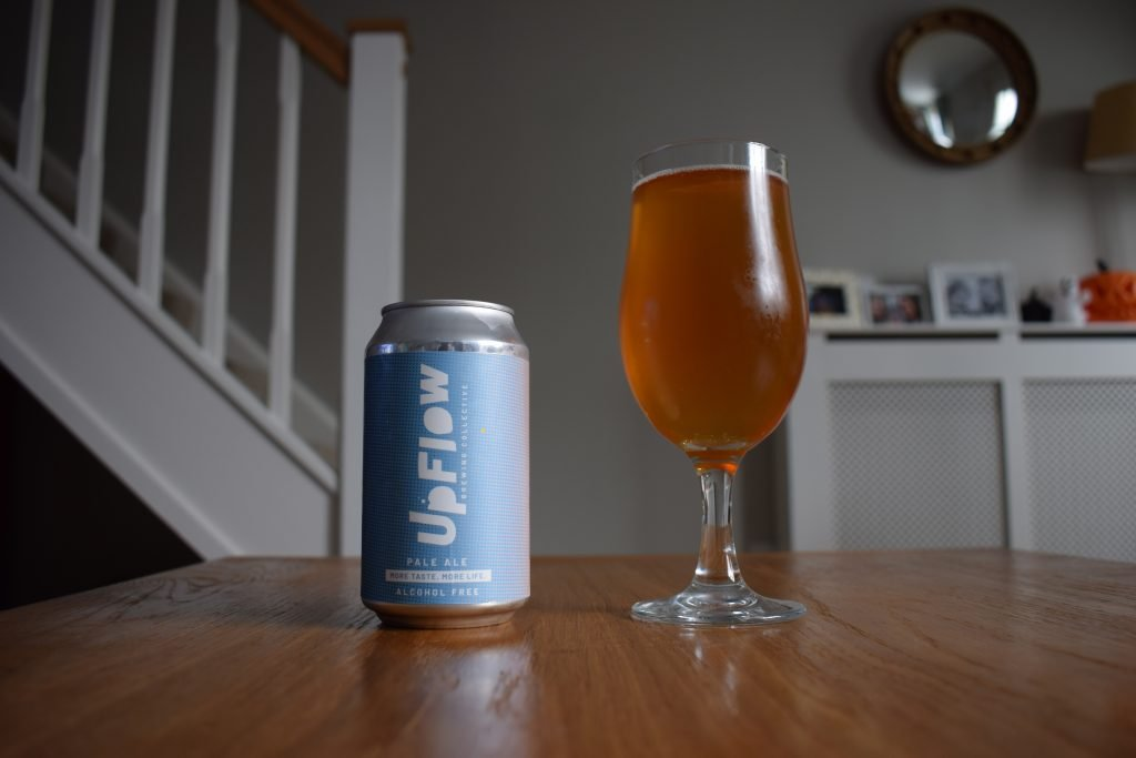 Upflow Pale Ale can and glass