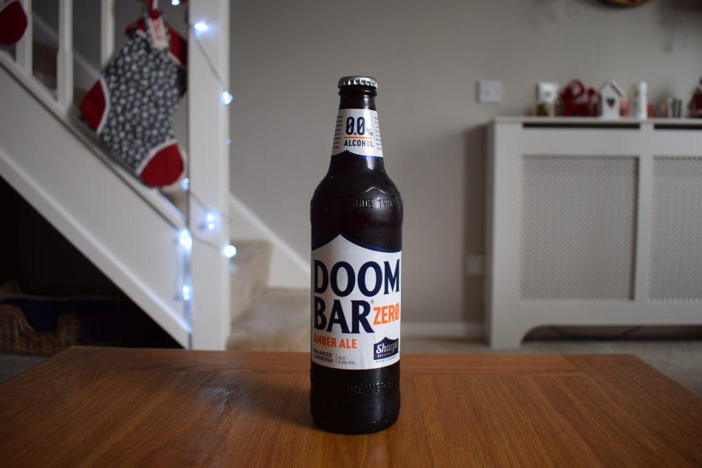 Bottle of Doom Bar Zero non-alcoholic beer