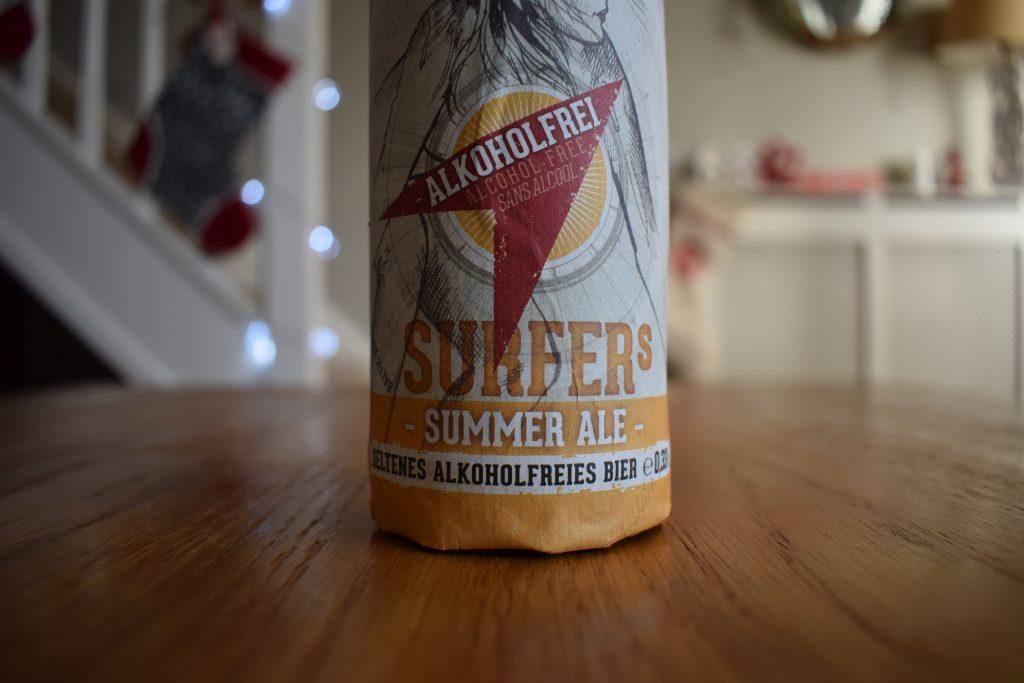 Insel Surfers Summer Ale bottle label close up