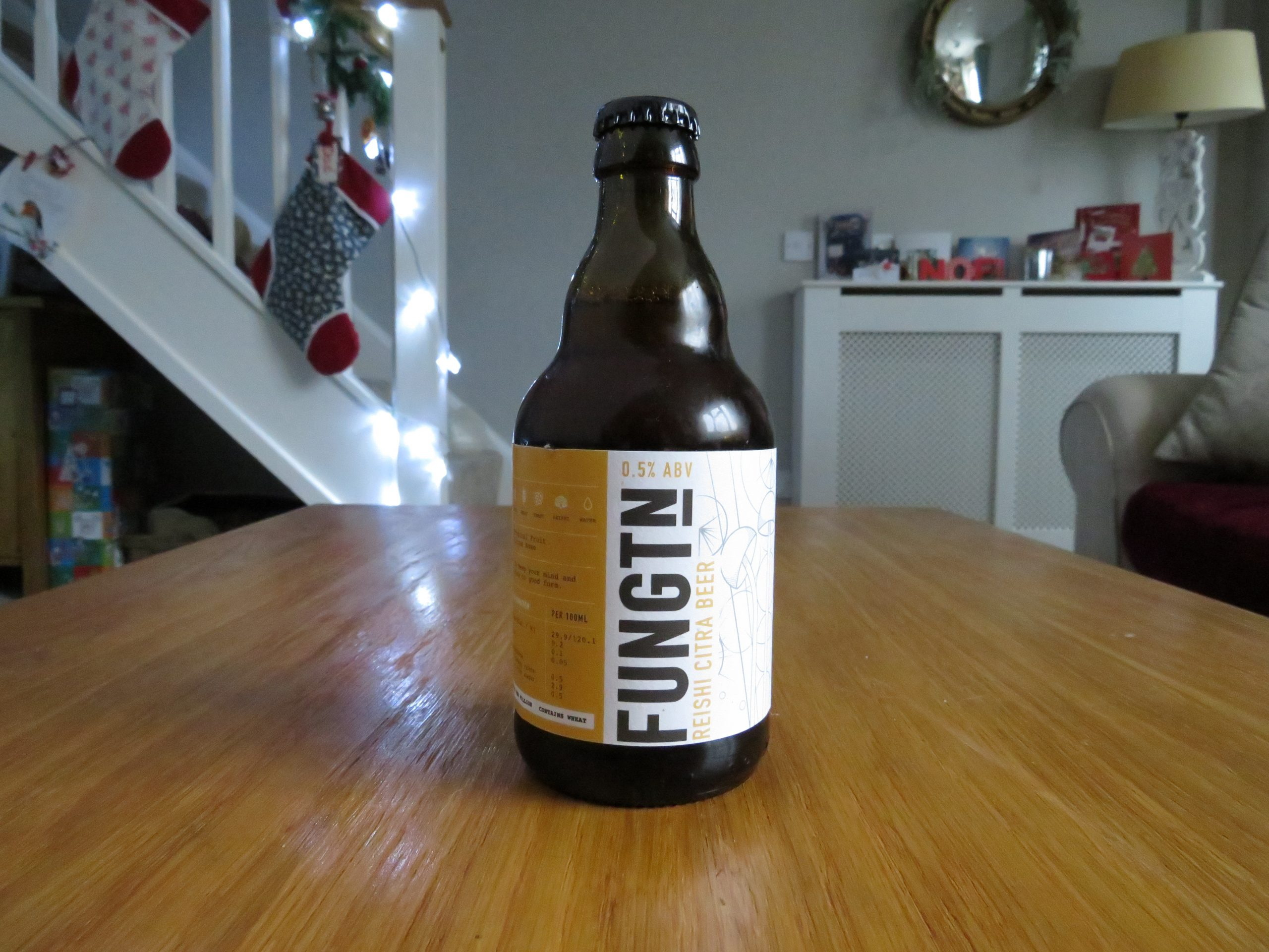 """""""Reishi Citra Beer"""" (0.5%) by Fungtn"""