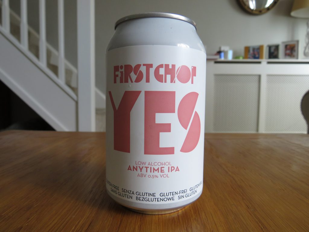 First Chop Yes non-alcoholic beer can