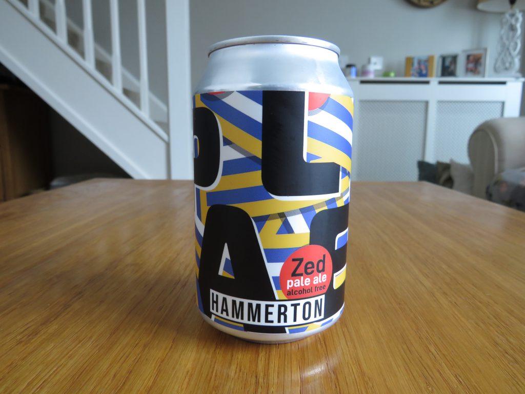 Hammerton Zed non-alcoholic pale ale can