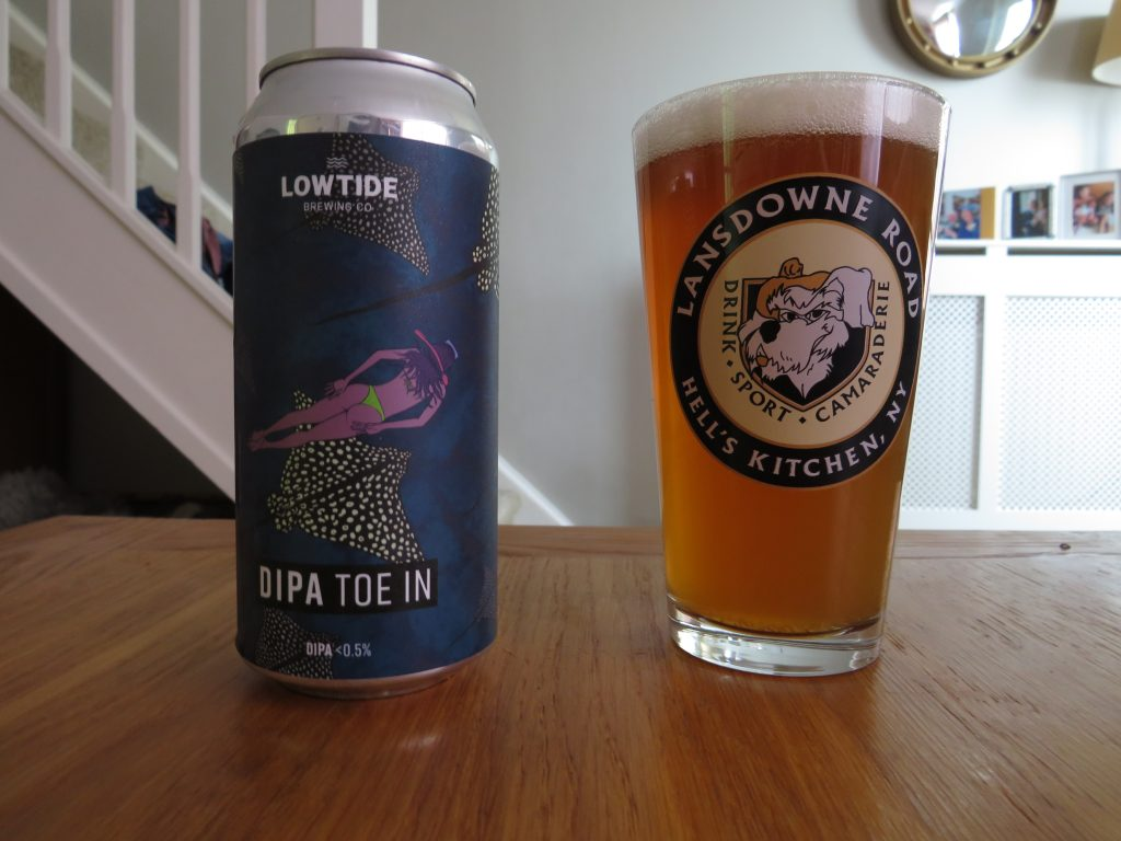 Lowtide Brewing DIPA Toe In can and glass