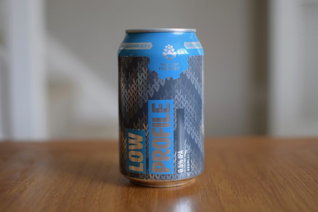 Aldi (Hop Foundry) Low Profile non-alcoholic beer can
